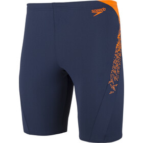 speedo Boom Splice Jammers Herren navy/orange